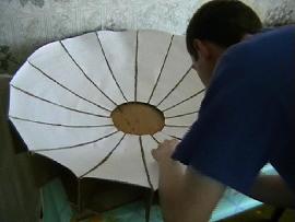 Изготовление модели солнечного концентратора