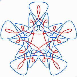 Узоры из связанных циркулей